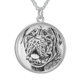 French Mastiff Sterling Silver Necklace