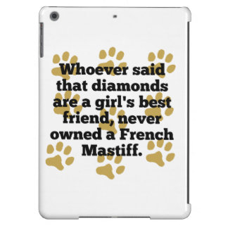 French Mastiffs Are A Girl's Best Friend iPad Air Cover