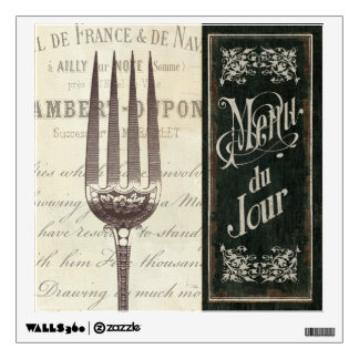 French Menu and Fork Wall Decal