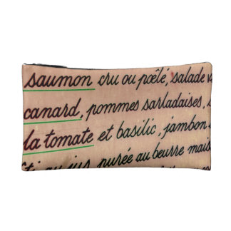 French menu cosmetic bag