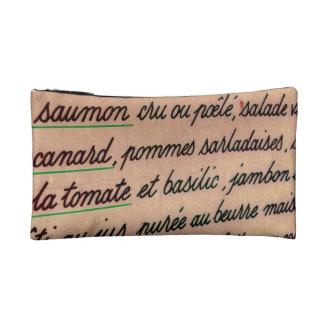 French menu cosmetic bag