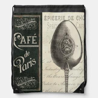 French Menu Drawstring Bag