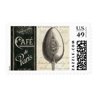 French Menu Stamp