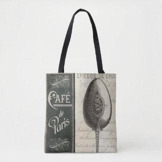 French Menu Tote Bag