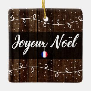 Joyeux Noel Twilight.Rustic French Flag Gifts On Zazzle