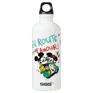 French Mickey | En Route pour L'Amour Aluminum Water Bottle