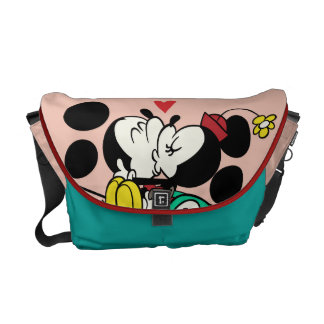 French Mickey | Mickey and Minnie Kissing Courier Bag