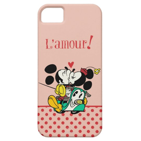 French Mickey | Mickey and Minnie Kissing iPhone SE/5/5s Case