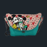 "French Mickey | Mickey and Minnie on Vespa Messenger Bag<br><div class=""desc"">Mickey Shorts: Croissant de Triomphe</div>"