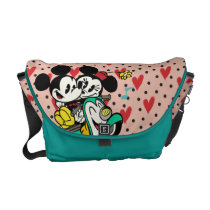 French Mickey | Mickey and Minnie on Vespa Messenger Bag