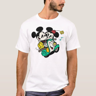 French Mickey | Mickey and Minnie on Vespa T-Shirt