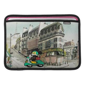 French Mickey   Speeding Vespa Sleeve For MacBook Air
