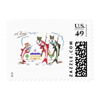 French Military Fish Drill Postage