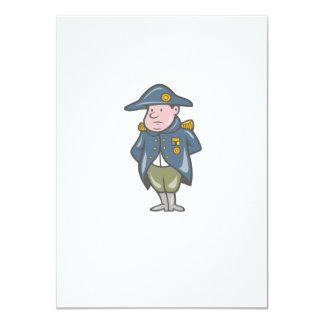 French Military General Cartoon 11 Cm X 16 Cm Invitation Card