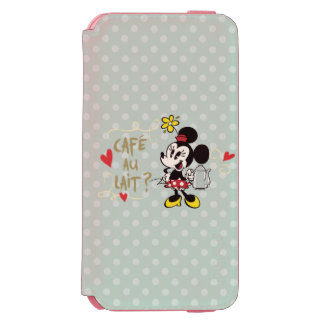 French Minnie | Café au Lait? iPhone 6/6s Wallet Case