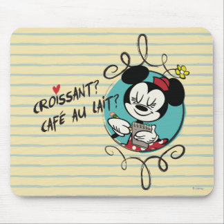 French Minnie | Croissant Mouse Pad