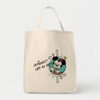 French Minnie   Croissant Tote Bag
