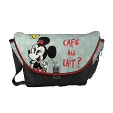 French Minnie | Minnie With Teapot Courier Bag at Zazzle