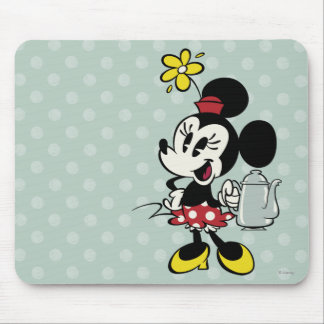 French Minnie | Minnie with Teapot Mouse Pad