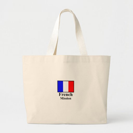 French Mission Tote Canvas Bags