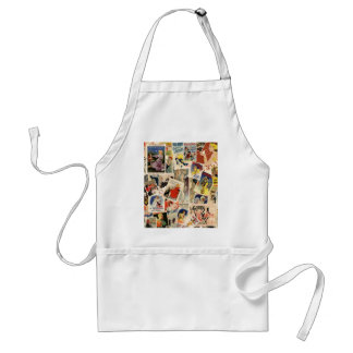 French Montage design 2 Adult Apron