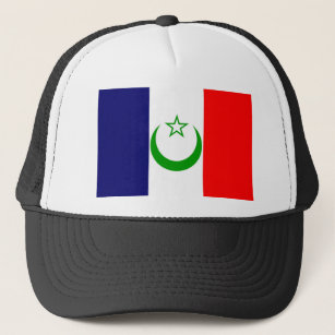 58f07d06 French Morocco flag France colony symbol Trucker Hat
