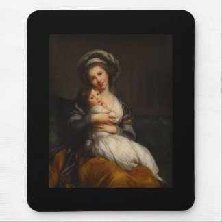 French Mother Holding Her Child Mouse Pad