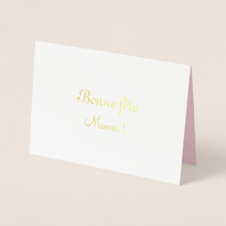 French Mother's Day with roses - Foil Card