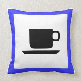 French motorway signal throw pillow