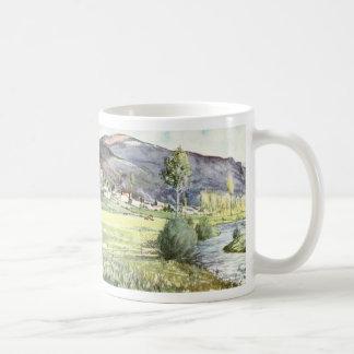 French Mountain Watercolor Coffee Mug