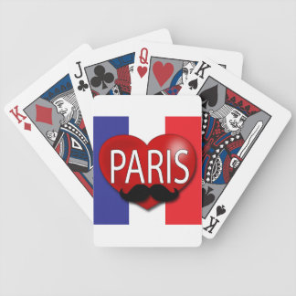 French Moustache  playing cards, original art Bicycle Playing Cards