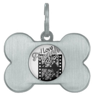 French Movies Pet Name Tag