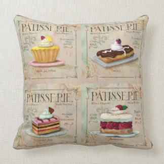 French multi Patisserie Pillow