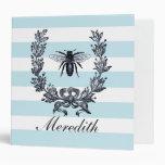 French Napoleonic Bee Wreath Graphic Binder