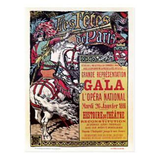 French National Opera medieval style vintage gala Postcard