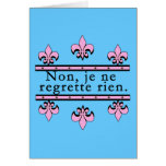 French No Regrets Products Greeting Card