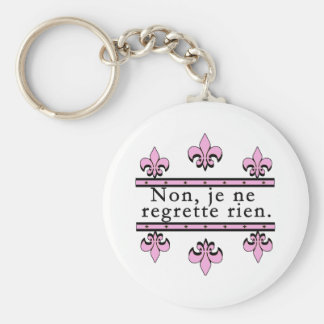 French No Regrets Products Key Chain