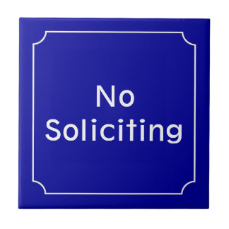 French No Soliciting Sign Ceramic Tile