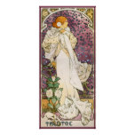 French Nouveau Pinup Theater Girl of Camellias Poster
