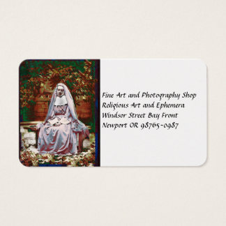 French Nun in the Garden of Contemplation Business Card