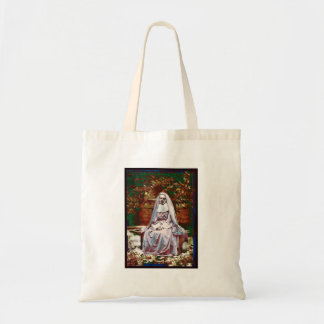 French Nun in the Garden of Contemplation Tote Bag