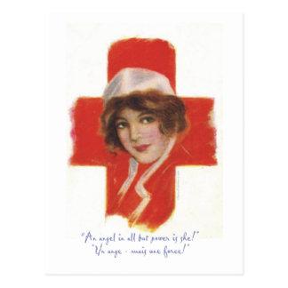 French Nurse Angel Postcard