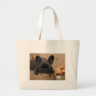 French one. Bulldogge shopping bag