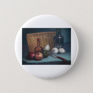 French Onion Basket and Vase Still Life Button