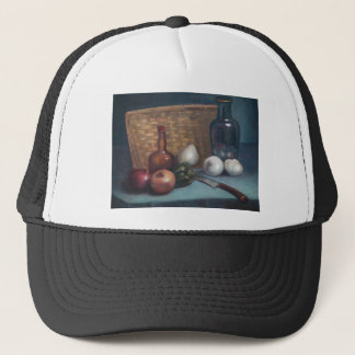 French Onion Basket and Vase Still Life Trucker Hat