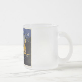 French Opera Poster Frosted Glass Coffee Mug