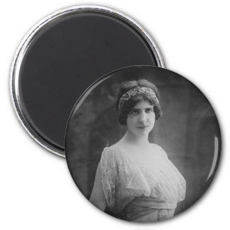 French Opera Singer Marguerite Beriza Portrait 2 Inch Round Magnet