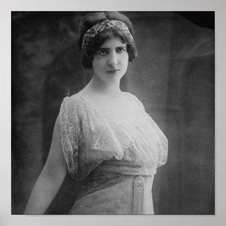 French Opera Singer Marguerite Beriza Portrait Poster