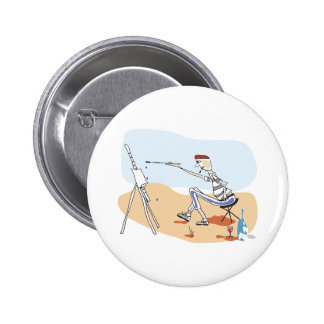 French Painter Pinback Button