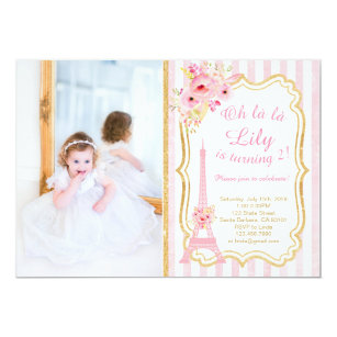French birthday invitations announcements zazzle french paris birthday invitation for girl stopboris Images